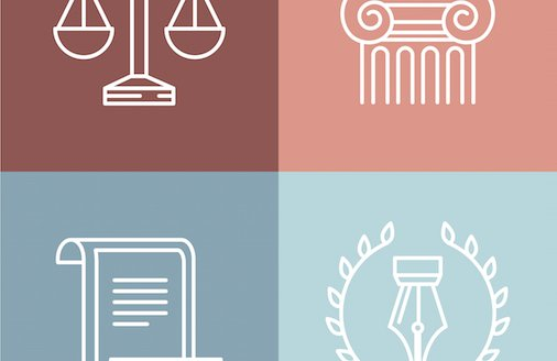 Legal content icons