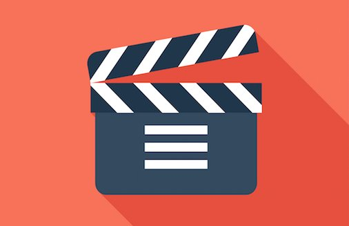 Video marketing clapboard