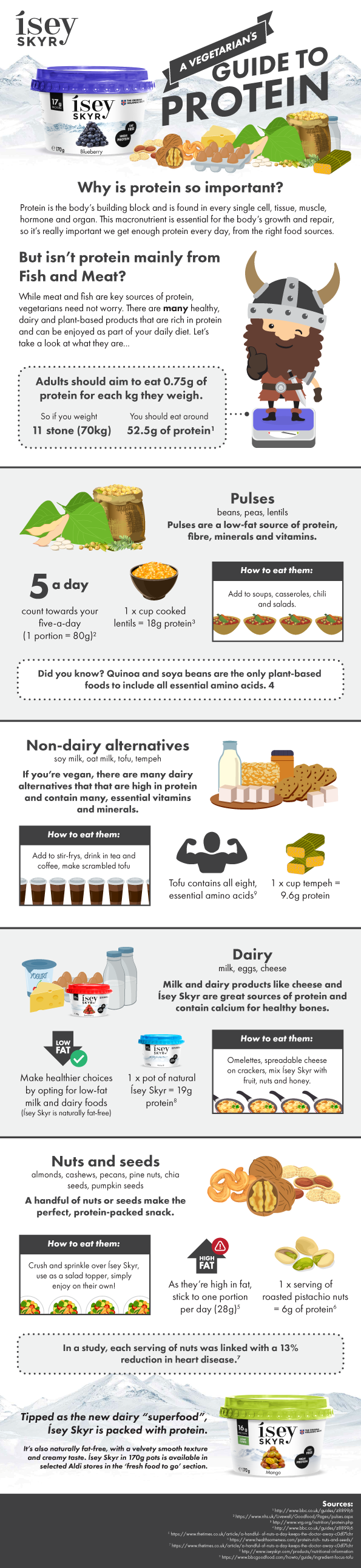 Skyr guide to protein infographic